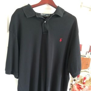 Polo by Ralph Lauren Shirts - Extra Large TALL Ralph Lauren black polo